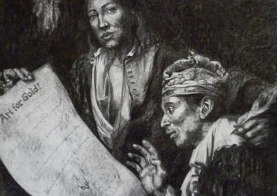 ART FOR GOLD - 2011 | 150 x 120 cm | Charcoal on Paper