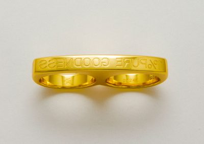 1% PURE GOODNESS (PROJECT ART FOR GOLD) - 2010 | gold signet ring | knuckle duster