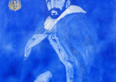 HIS IMPERIAL MAJASTII H.S. 1 LION OF JUDAS NEGUS NEGESTIS - 2010    Oil on canvas