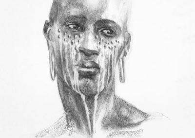 TEARS - 2006 | 70 x 100 cm | Charcoal on paper