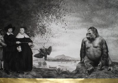 ARE YOU THE NEXT MAECENAS? - 2013 | 150 X 200 cm | charcoal on paper