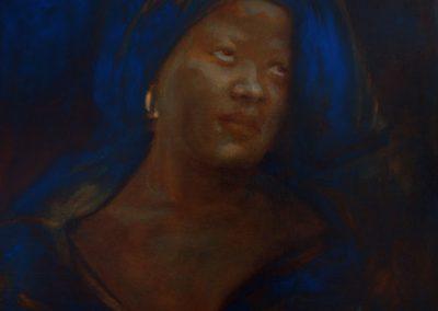LAST RAIN QUEEN - 2009   100 x 80 cm   oilpaint on canvas