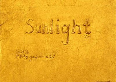 SUNLIGHT 100% PURE GOODNESS - 2010 | tile size | Goldleaf on wood
