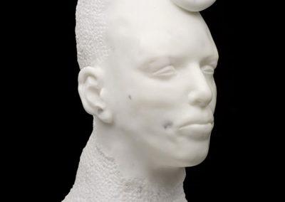 HEAD - 2004 | 55 x 27 x 32 cm | Statuario marble