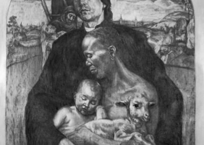 NASCENDO MORIMUR (AS WE ARE BORN, WE DIE) - 2013 | 150 X 200 cm | charcoal on paper
