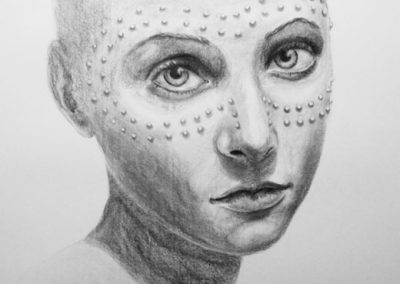 GIRL | 70 x 100 | Charcoal on paper