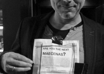 LEO BLOKHUIS pop music expert. Prior to the gallery opening of ARE YOU THE NEXT MAECENAS? at Kersgallery in Amsterdam I went out to flyer in search for the next maecenas.