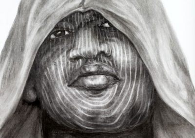 IFE | 70 x 100 cm | Charcoal on paper